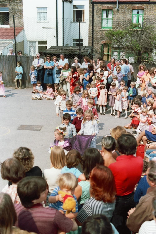 Maypole Dancing at Wells Primary School in Woodford Green, Essex