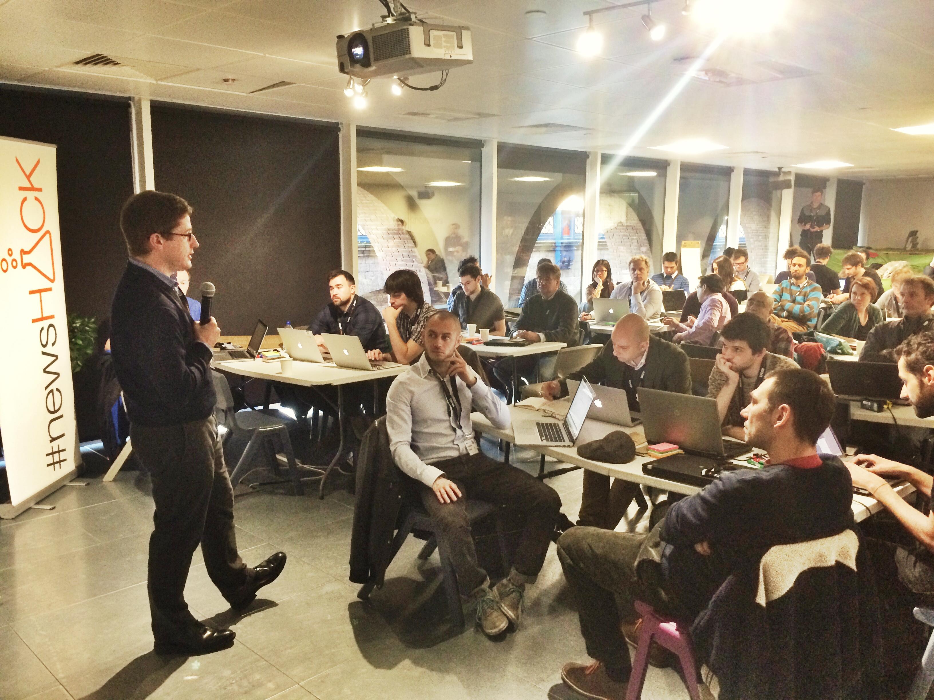 James Montgomery opens #newsHACK III on Langauge Technology