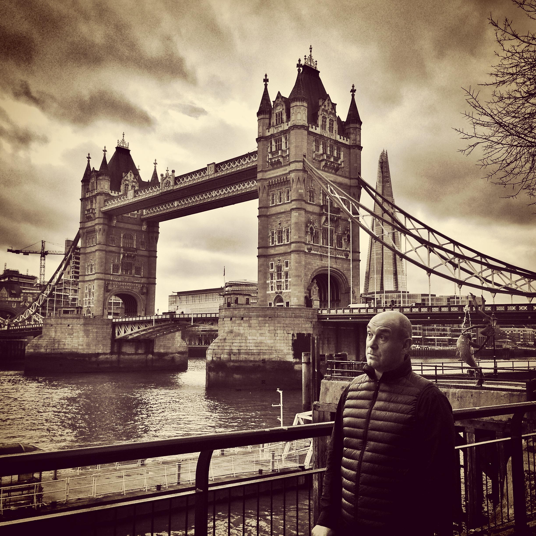 Mark Flashman at #newsHACK III . Tower Bridge, London