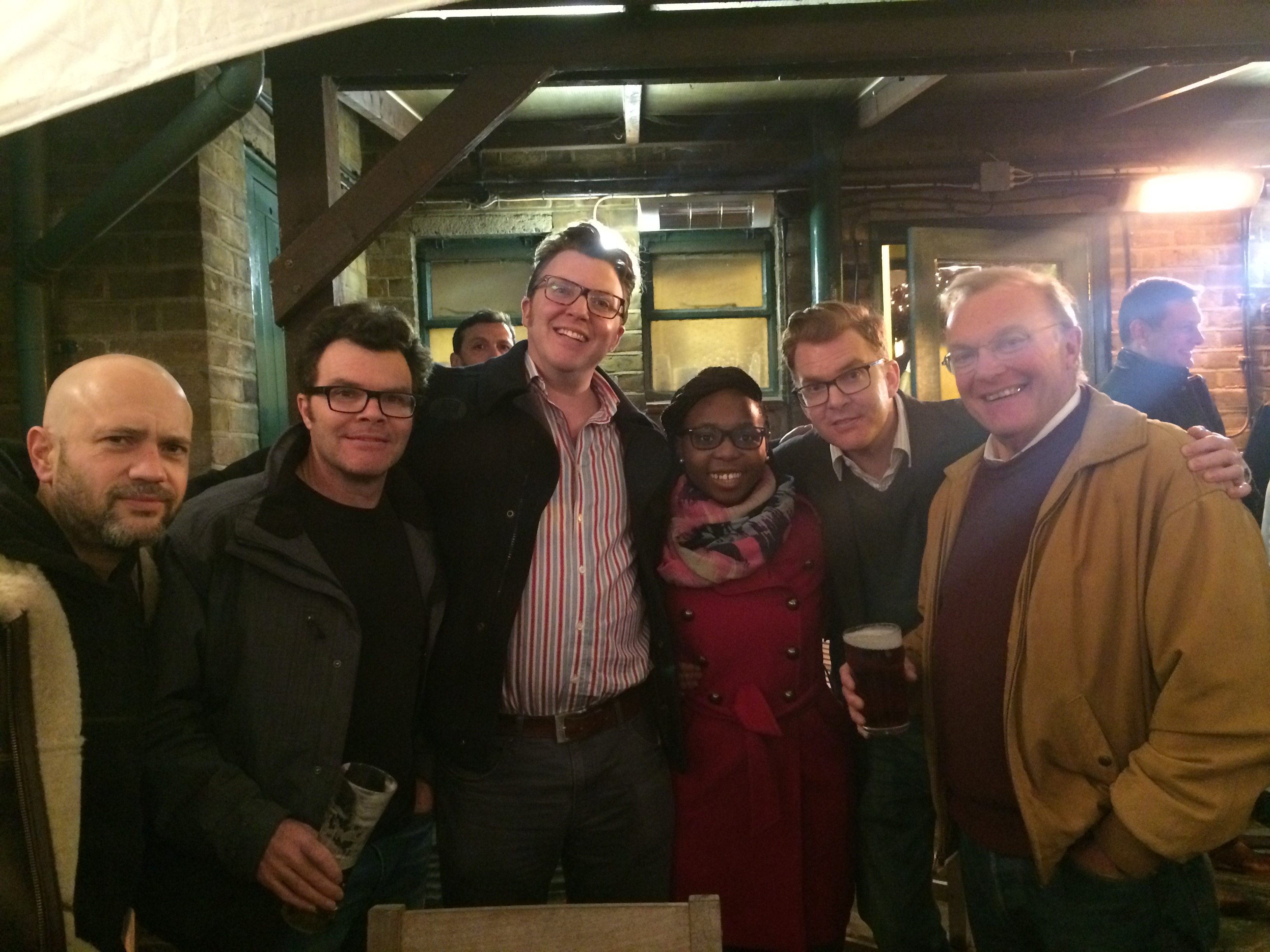 Some of the crew, at Spivs in Woodford