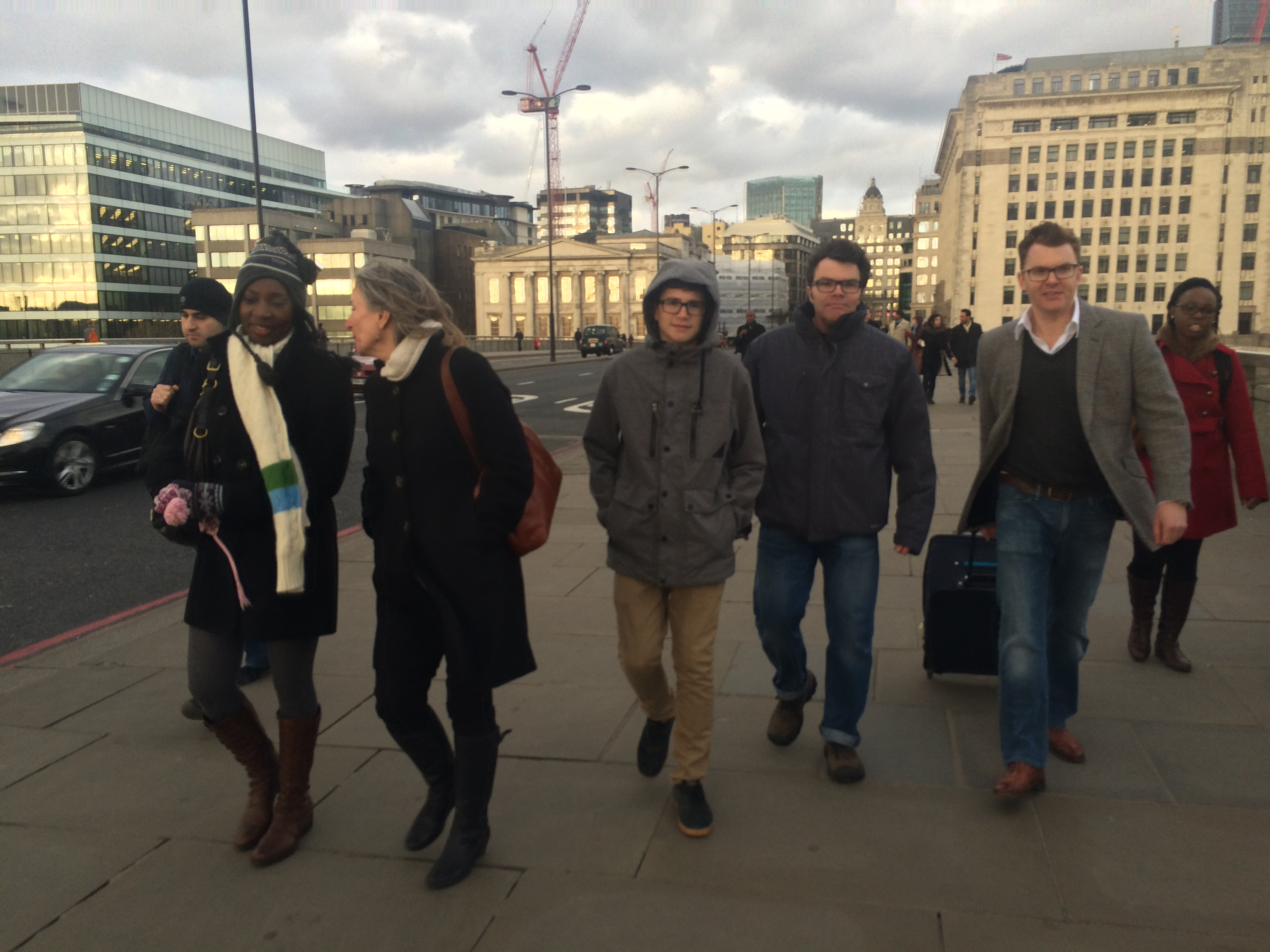 The Shearers get together at Christmas on London Bridge