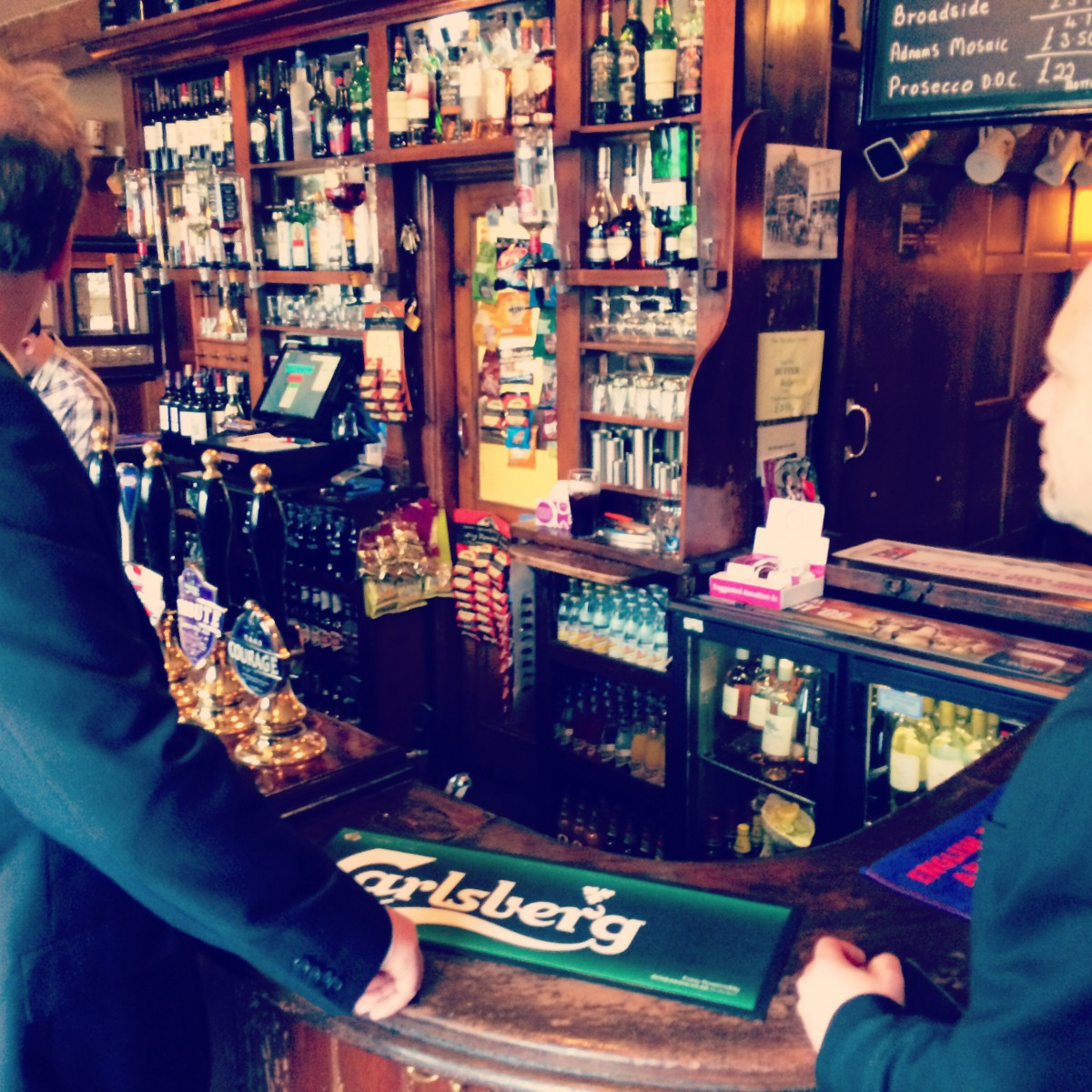 James Magnus and Ian Guest at Travellers Friend, Woodford (Spivs)