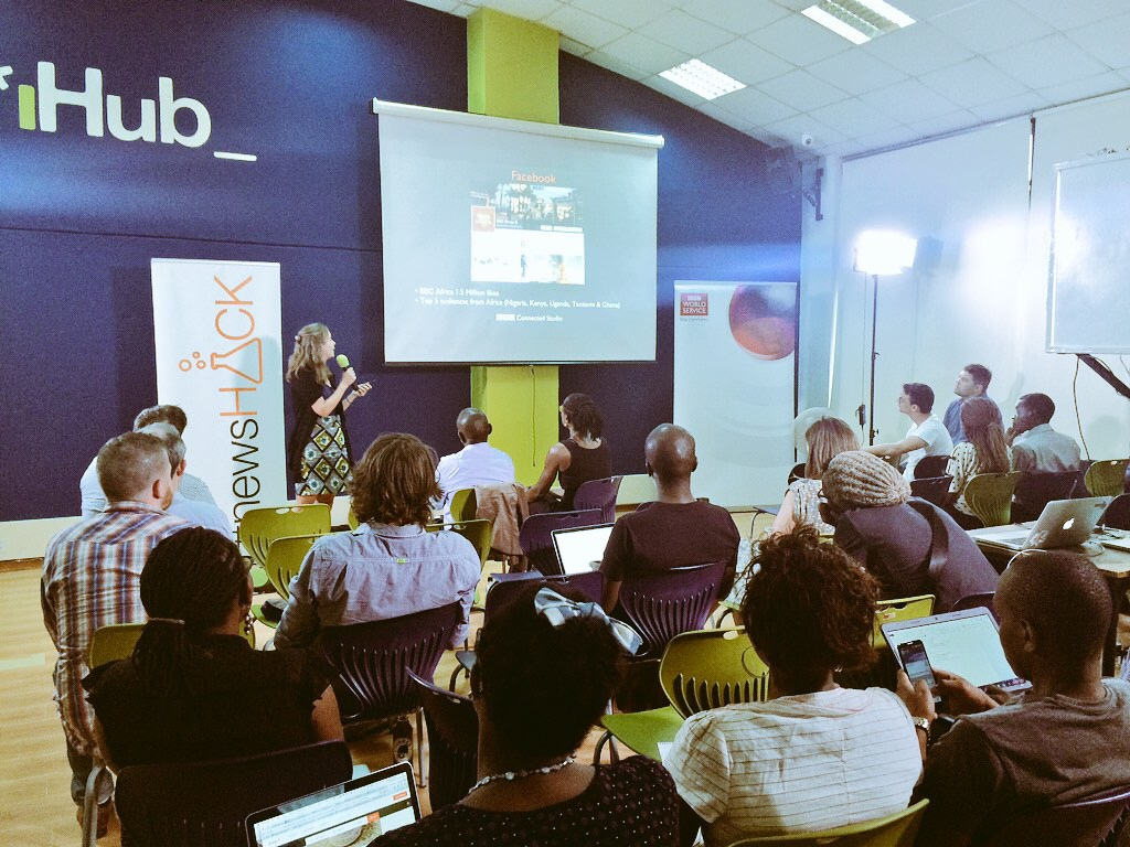 Tech Briefing for the #newsHACK in Nairobi - at @iHub