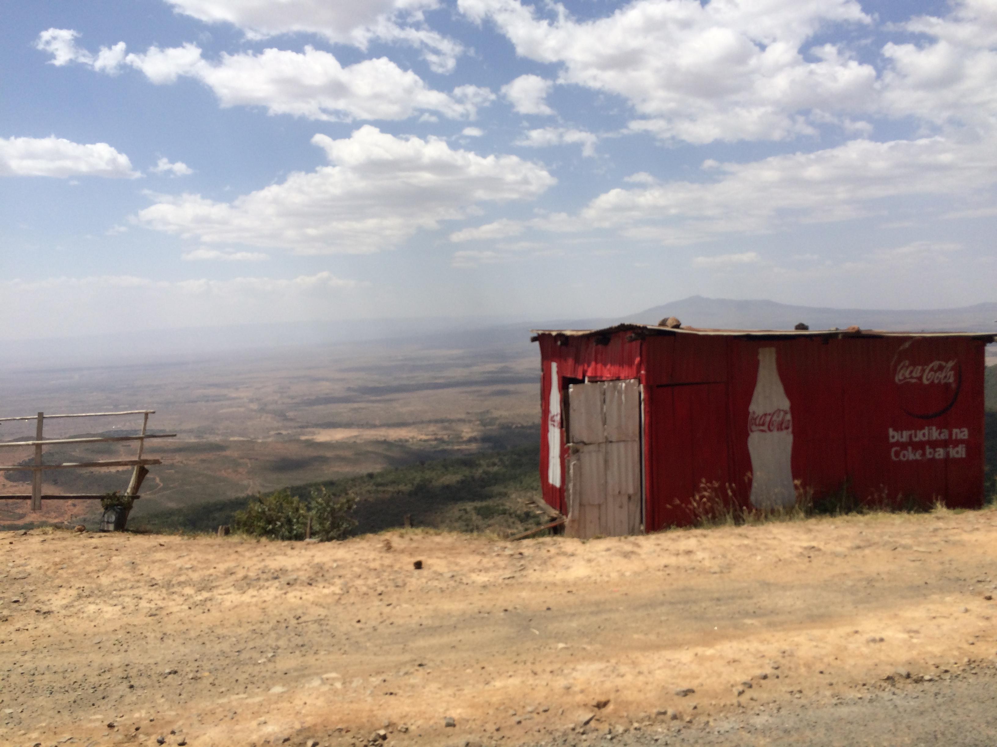 Coke advert, overlooking the Great Rift Valley, Kenya