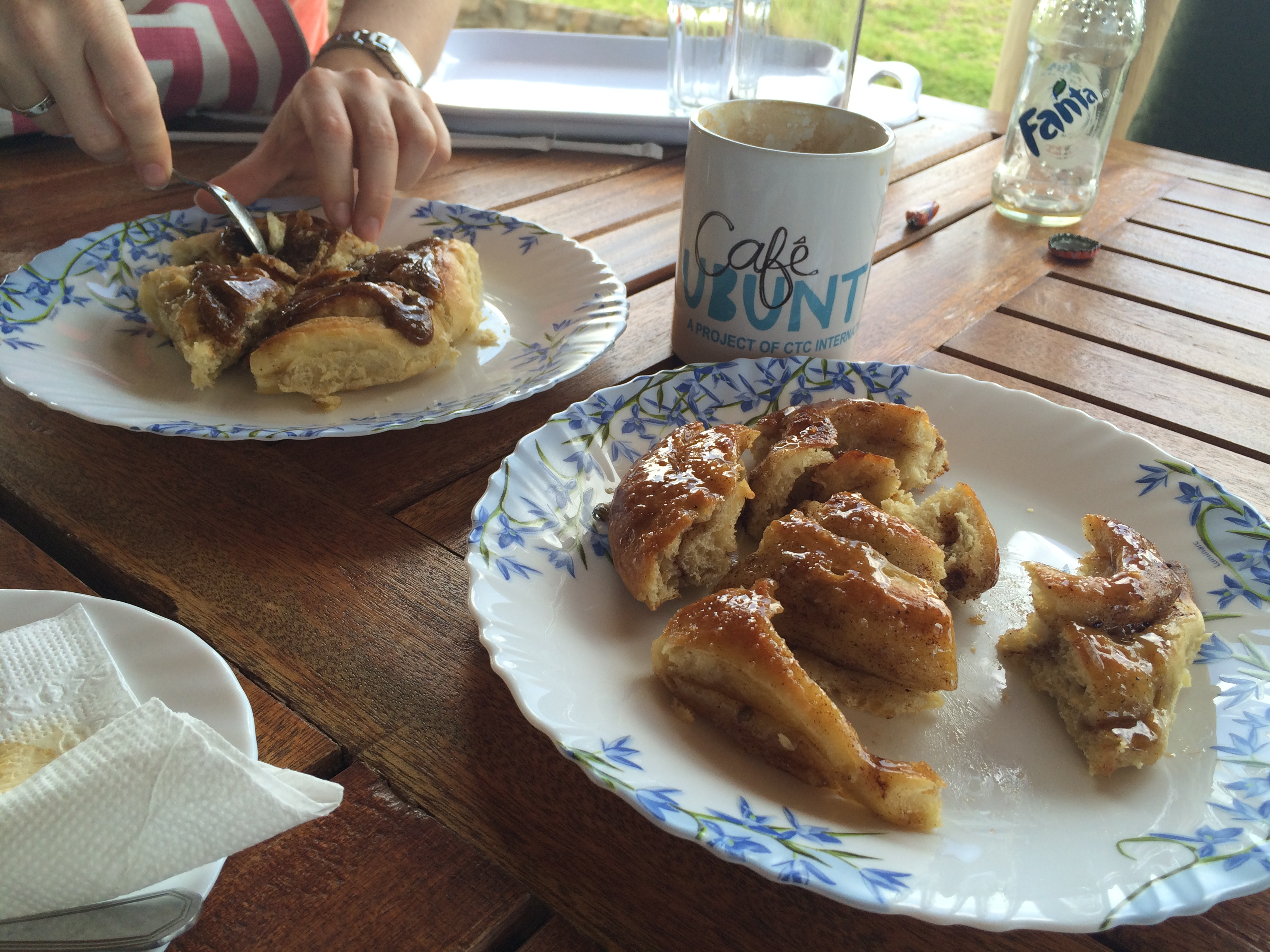 Sticky buns at Cafe Ubuntu in the Great Rift Valley, Kenya