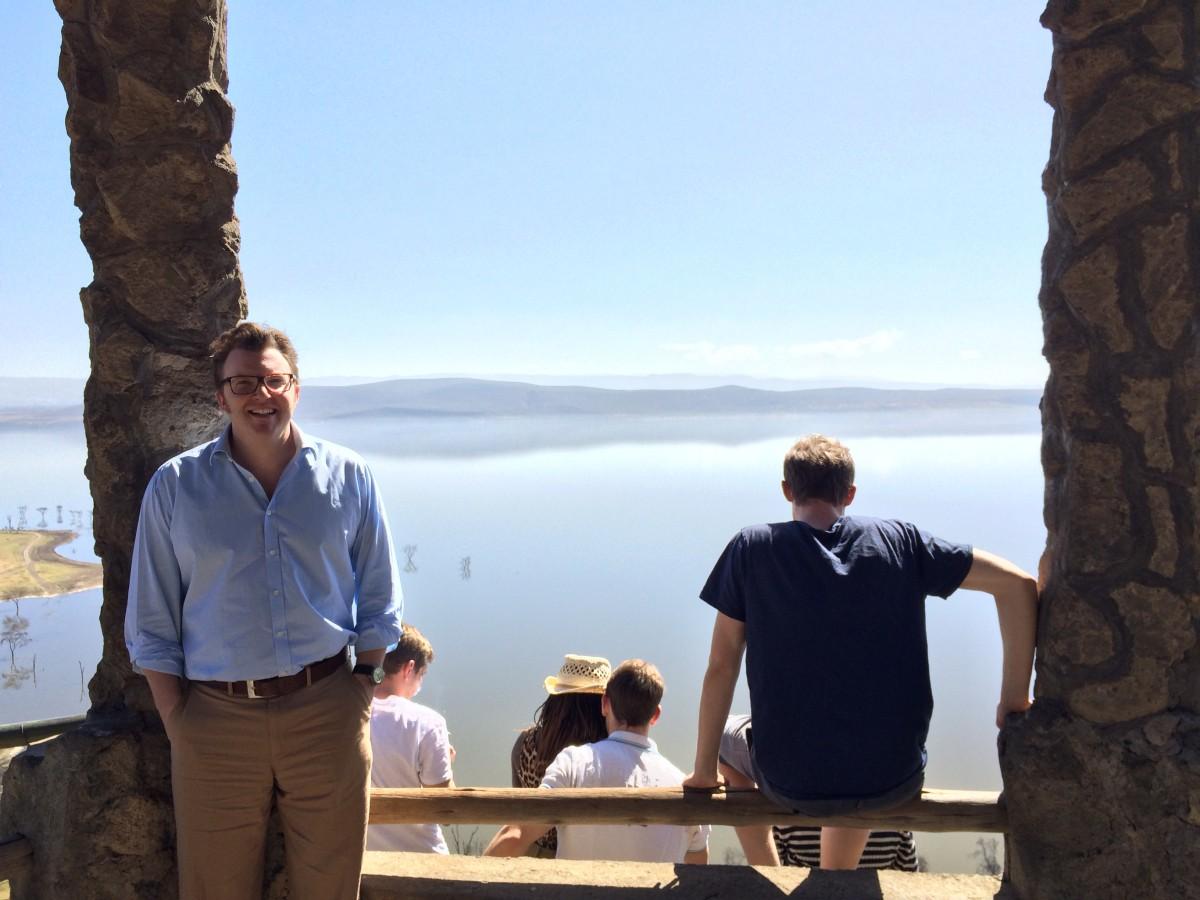 Matt Shearer at Lake Nakuru, Kenya