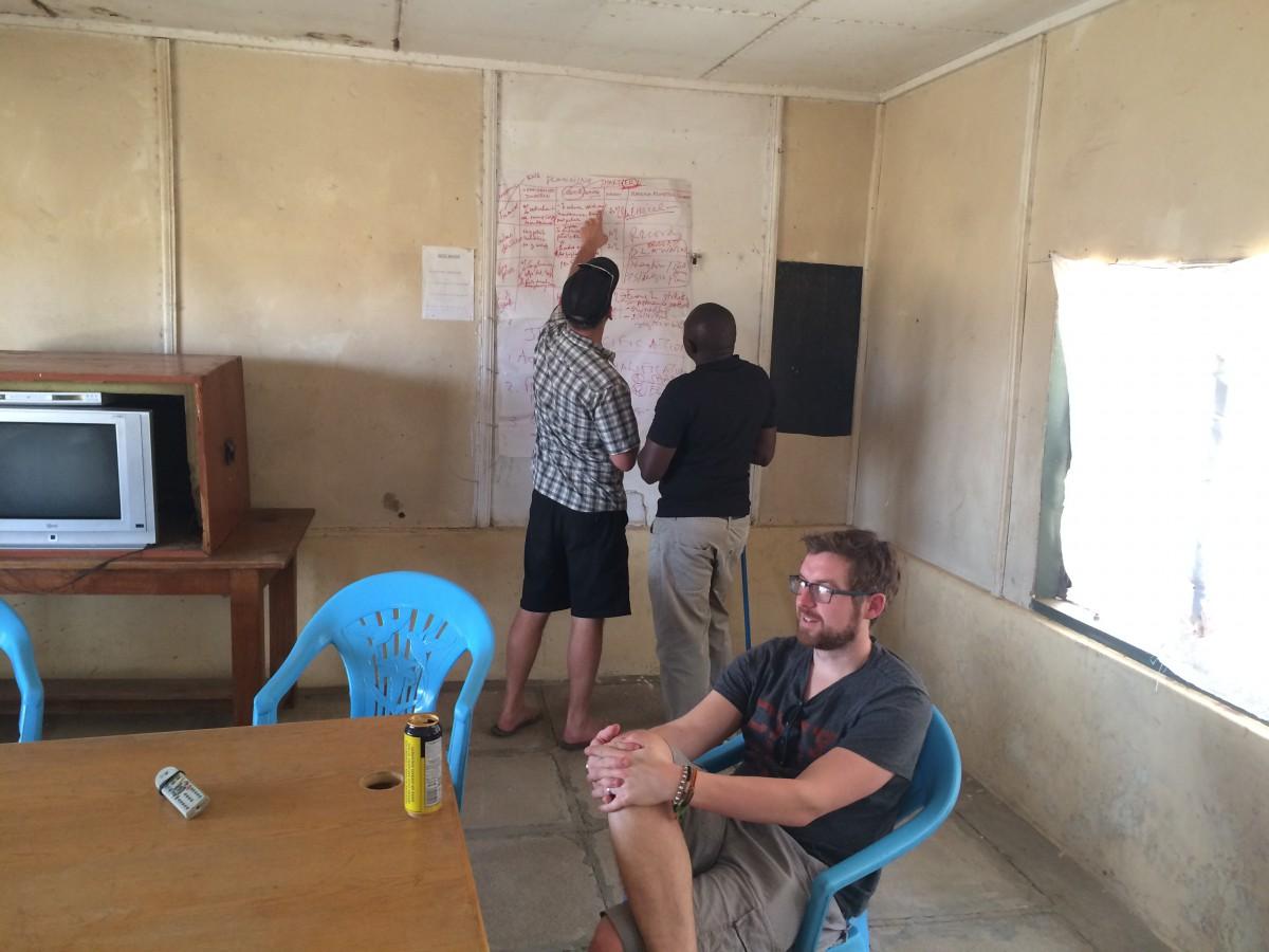 Richard Caller, Iain Collins and Andy Poulton at Lake Nakuru, Kenya