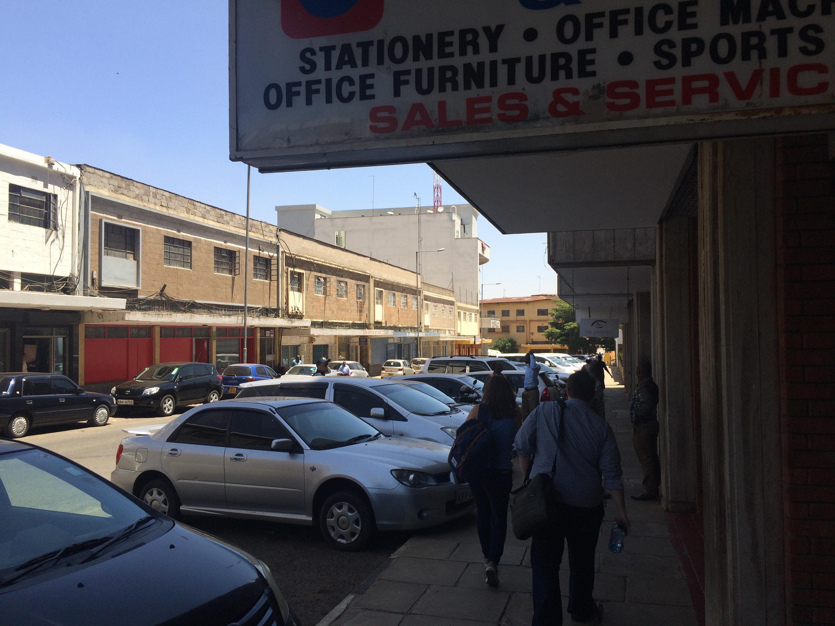 Outside the BBC East Africa Bureau