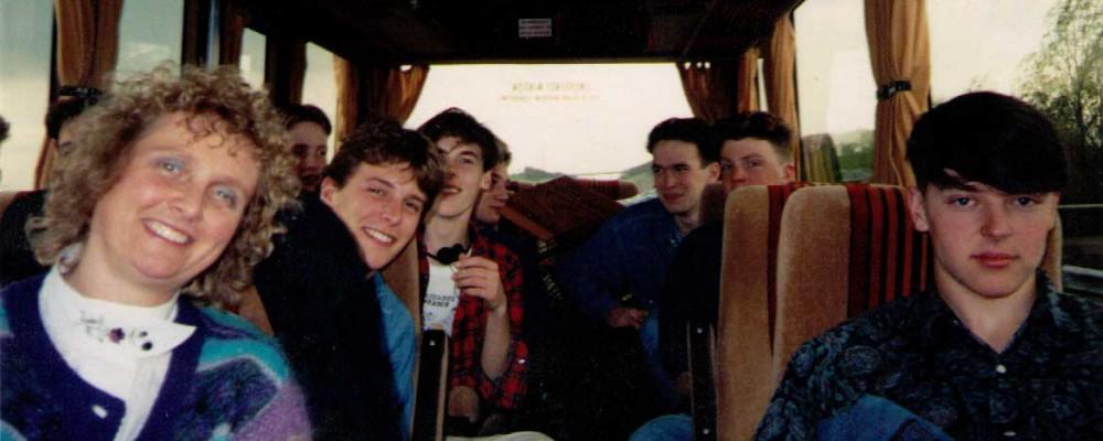 On the OSJO Bus in Europe in 1990