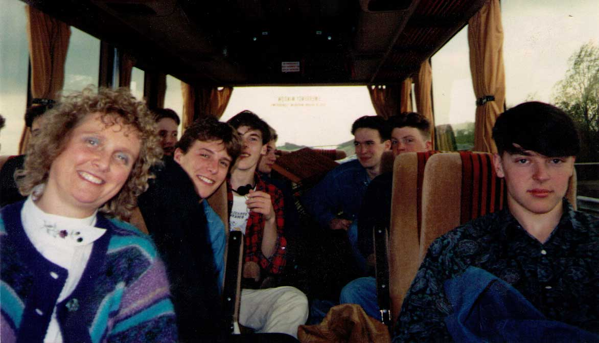 On the OSJO Bus in Europe in 1990