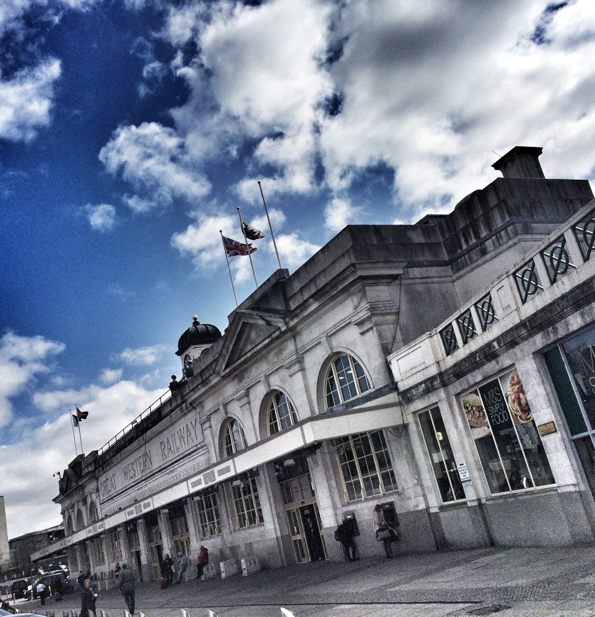 Cardiff Train Station, just before #newsHACK VI