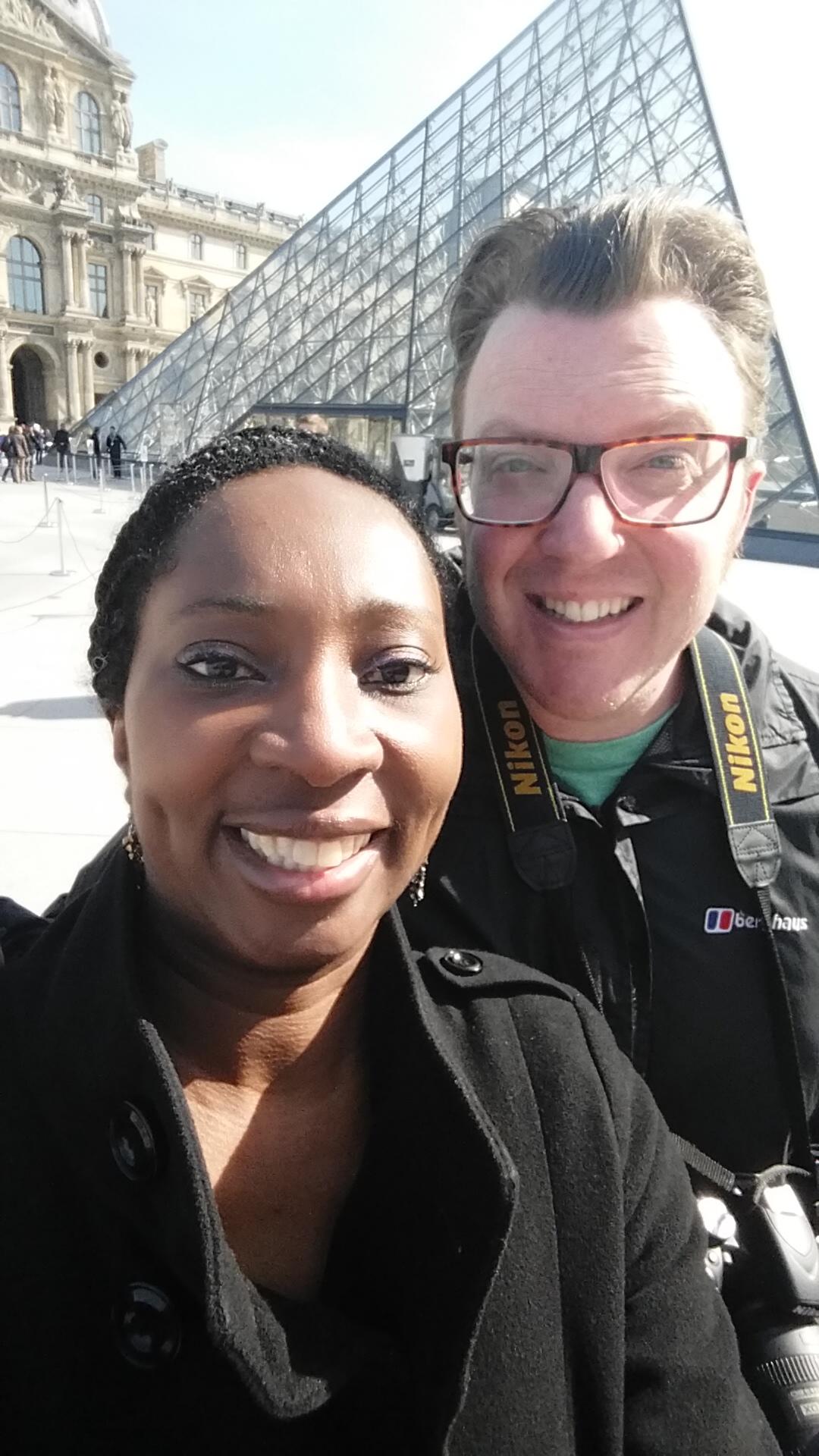 Selfie at the Louvres - Wendy & Matt Shearer