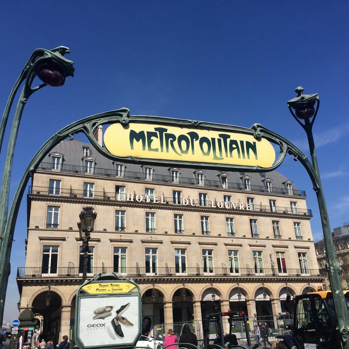 Metro Station at Louvre, Paris, France