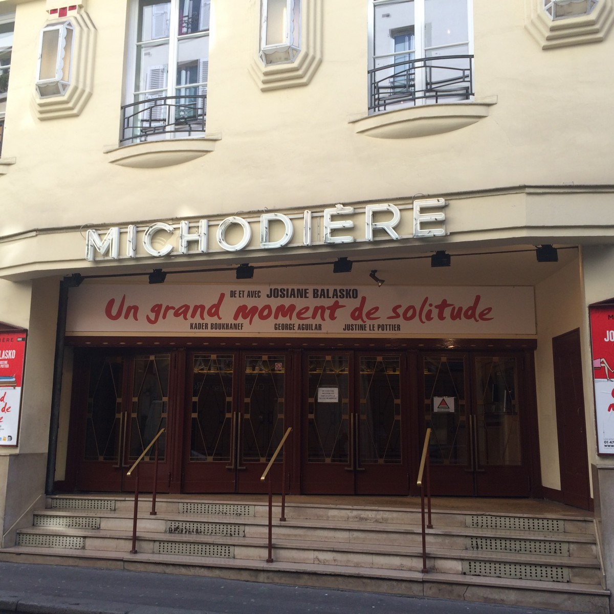 Theatre Michodiere - where we were staying in Paris. Great spot.