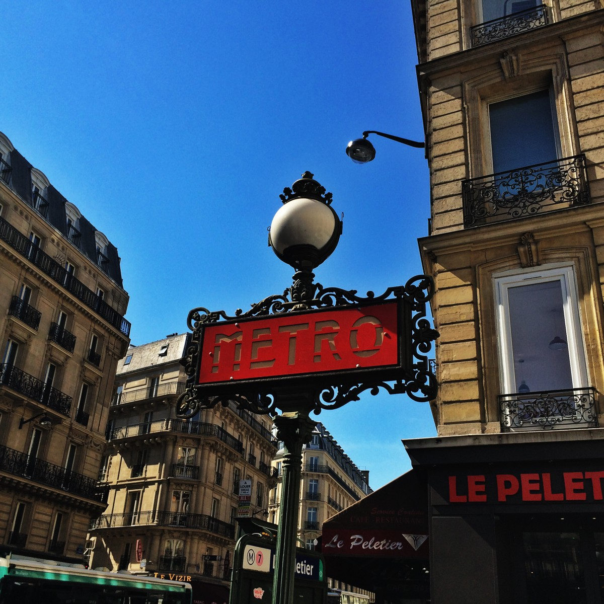 Metro Station on La Fayette, Paris, France
