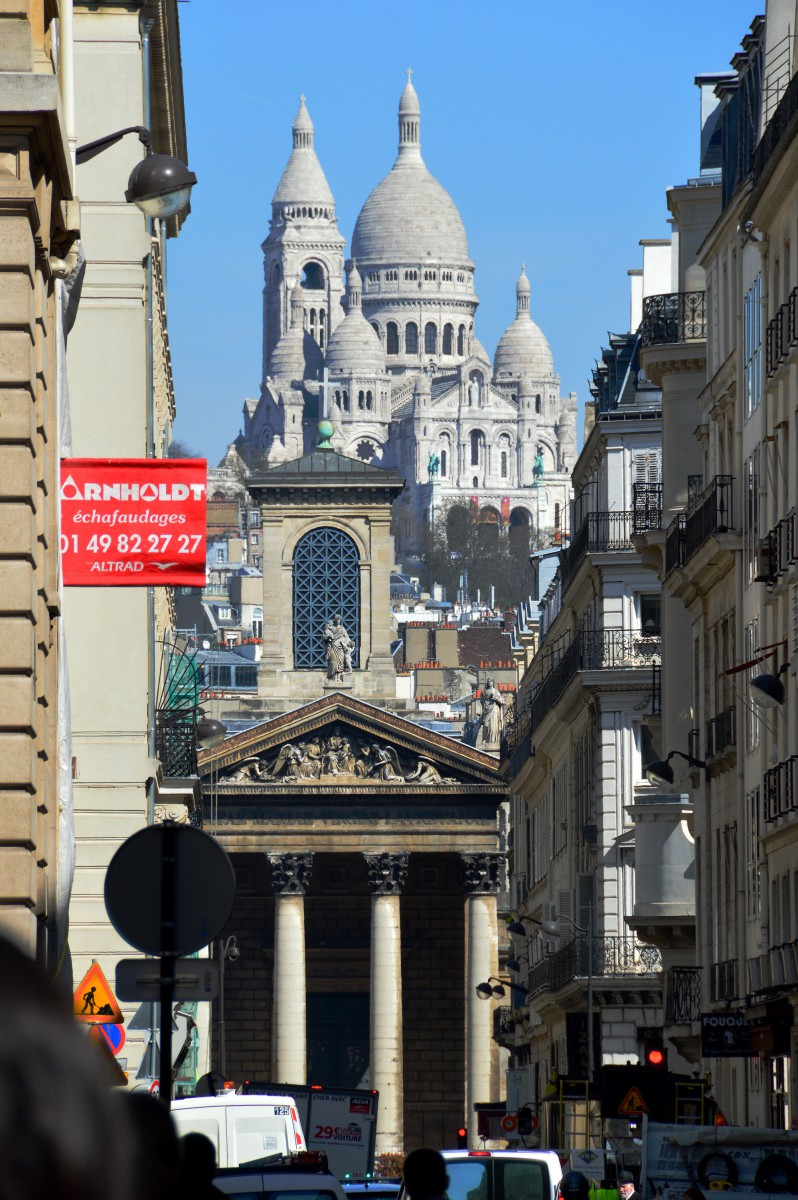 The view of Sacre Coeur from Rue de Laffite