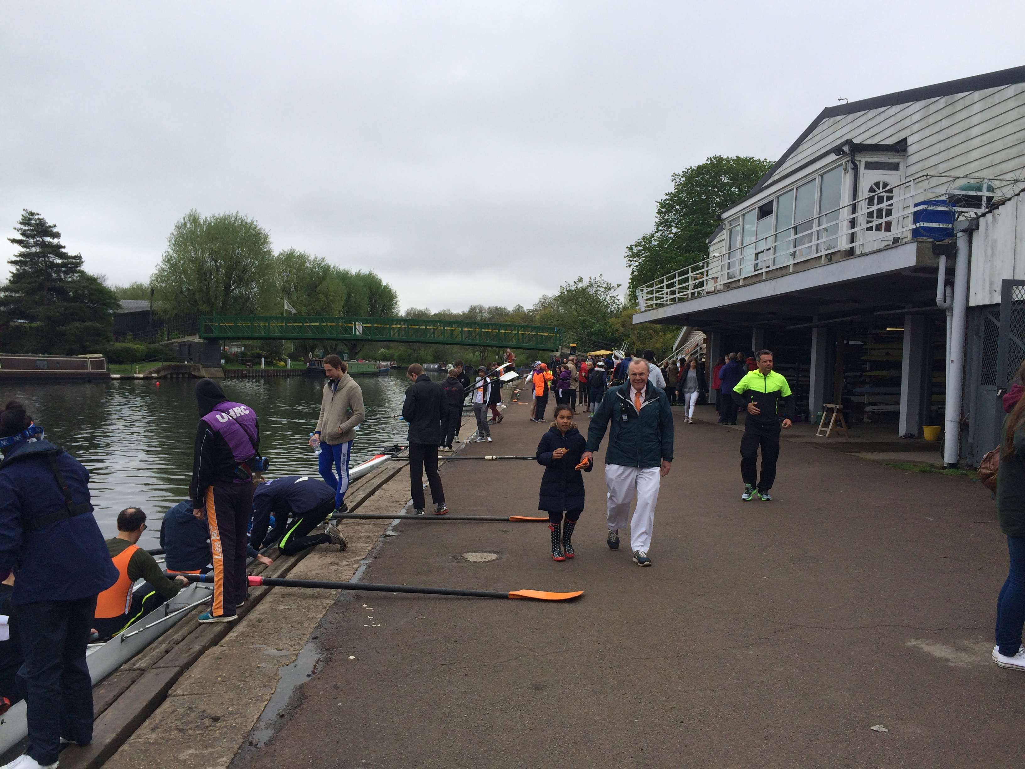 Fred Shearer, Umpire, at the boat house - Lea Regatta 2015