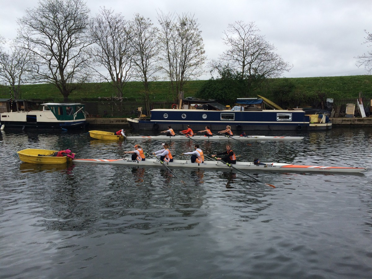 Lea Rowing Club Regatta 2015 - a Four at the starting line