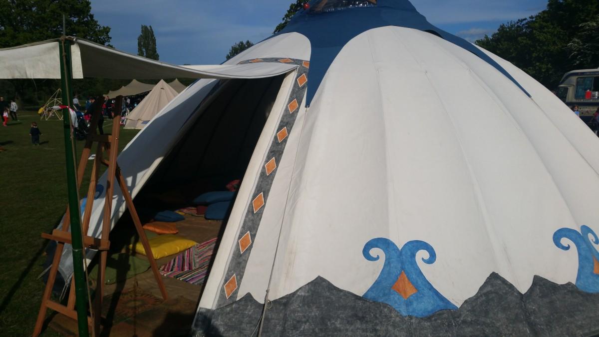 The Storytelling Yurt, Tooting Bec, 2015