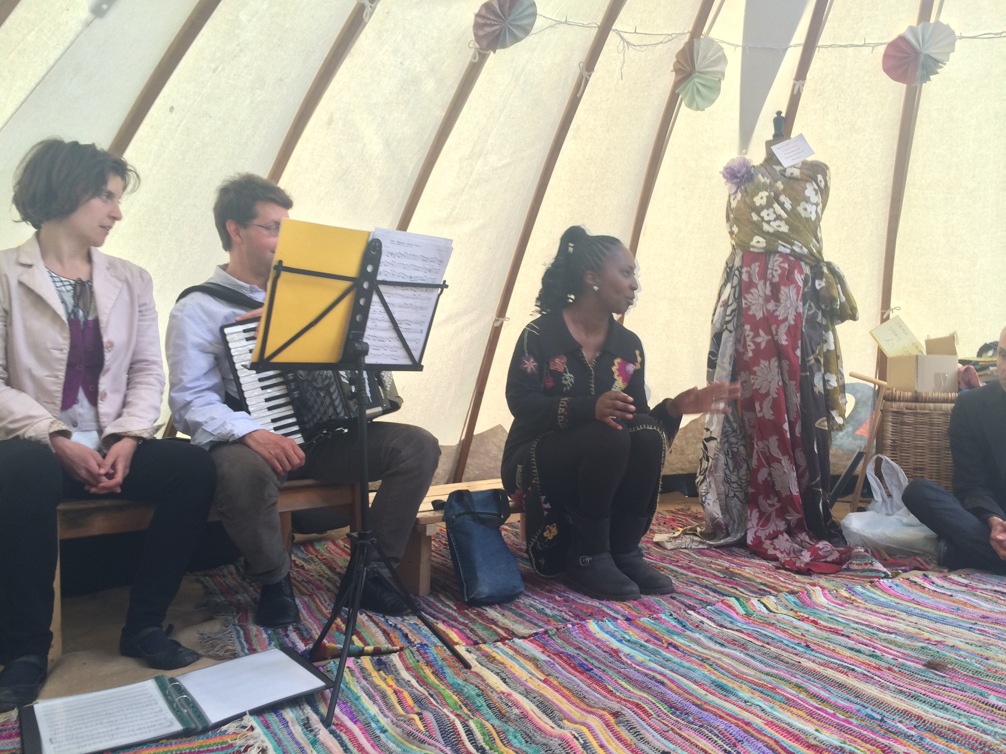 Wendy Shearer, from Story Boat, Storytelling in Tooting Bec Festival, May 2015