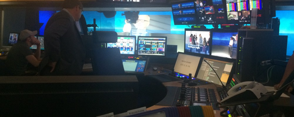 The new NEWS Studio at NDR - with 70 foot media wall