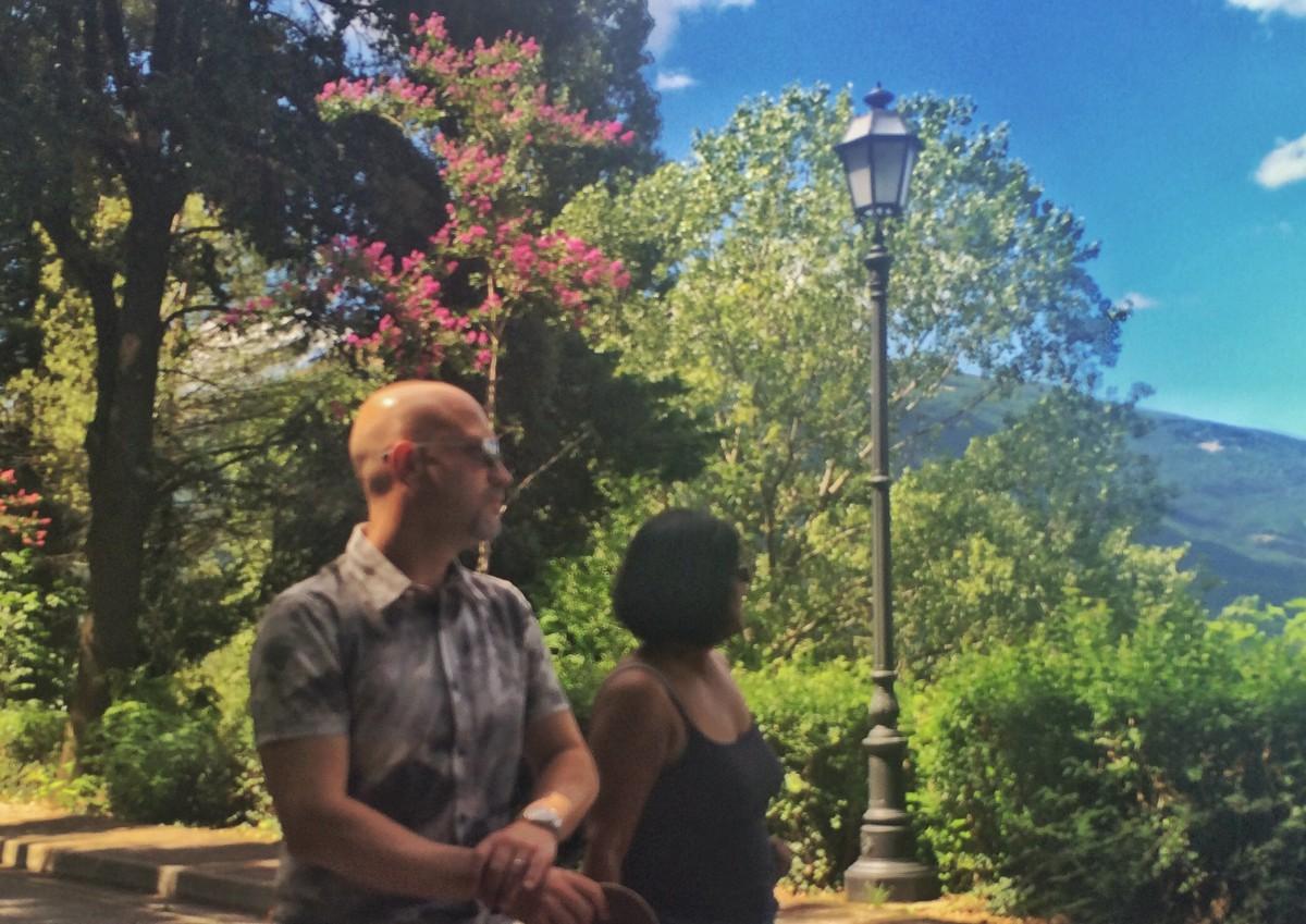 Ian and Anita in Italy