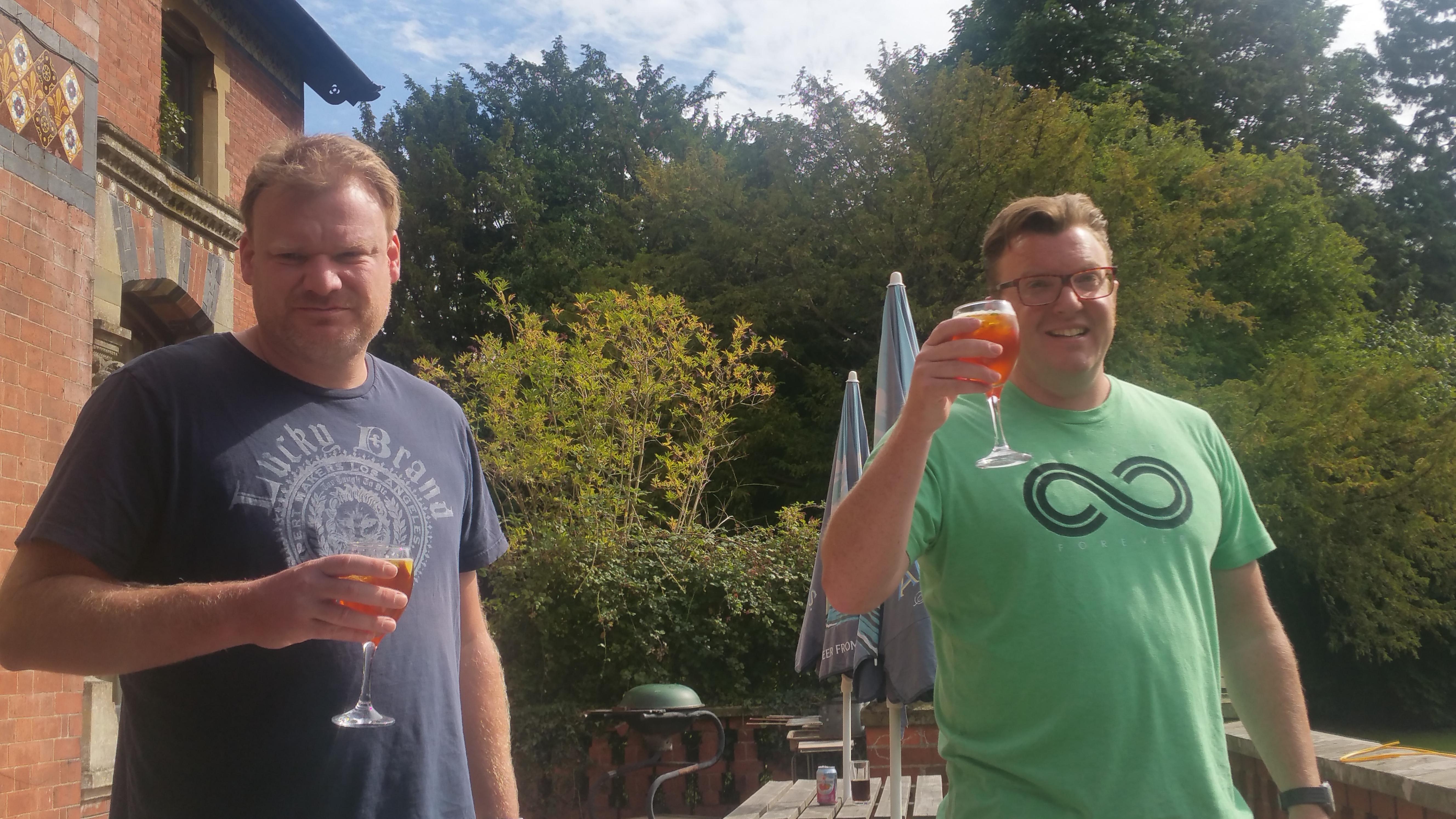 Jim and I at Rosebank, Hereford, 2015