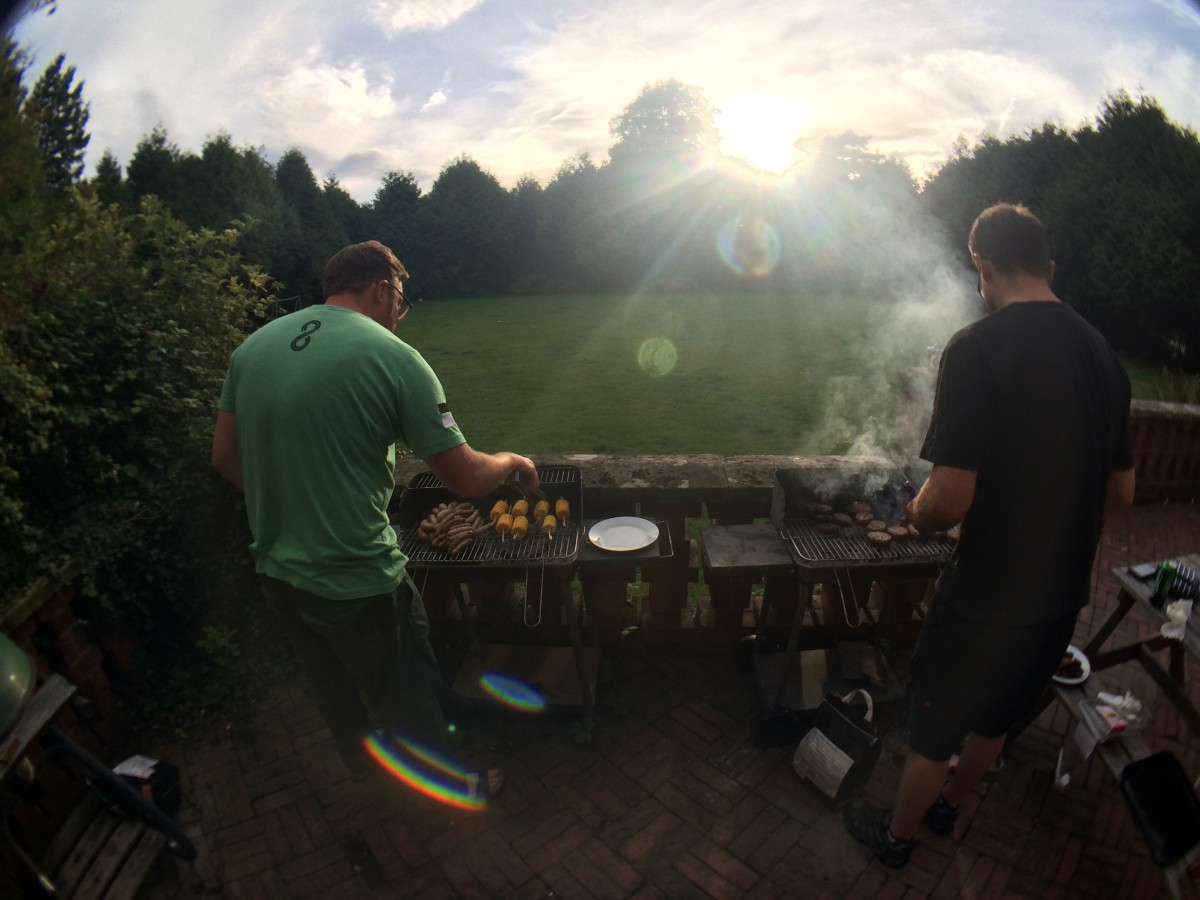 Matt & Andy on the BBQ