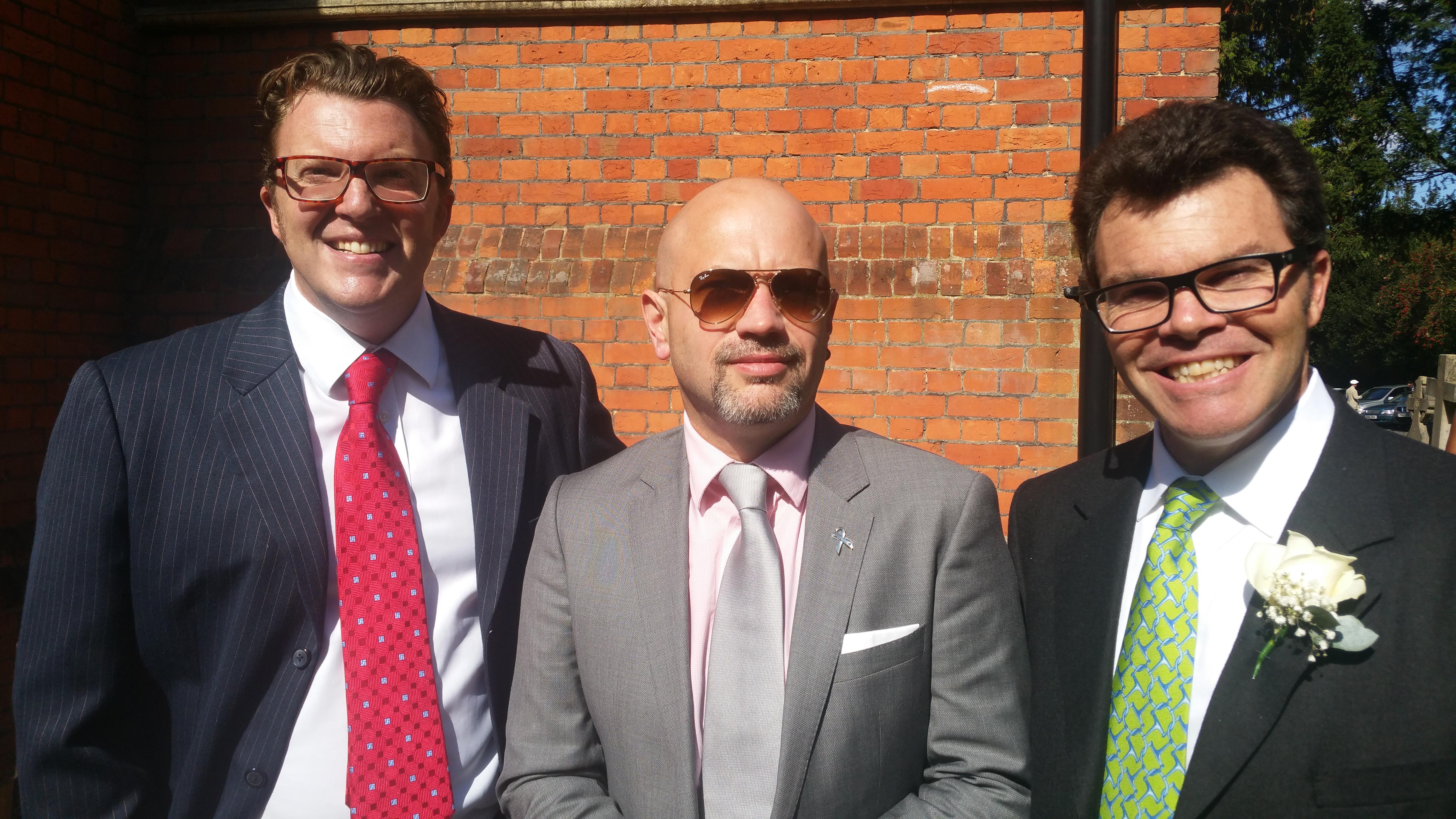 Ian, Russ and I at Ed & Rumbie's wedding