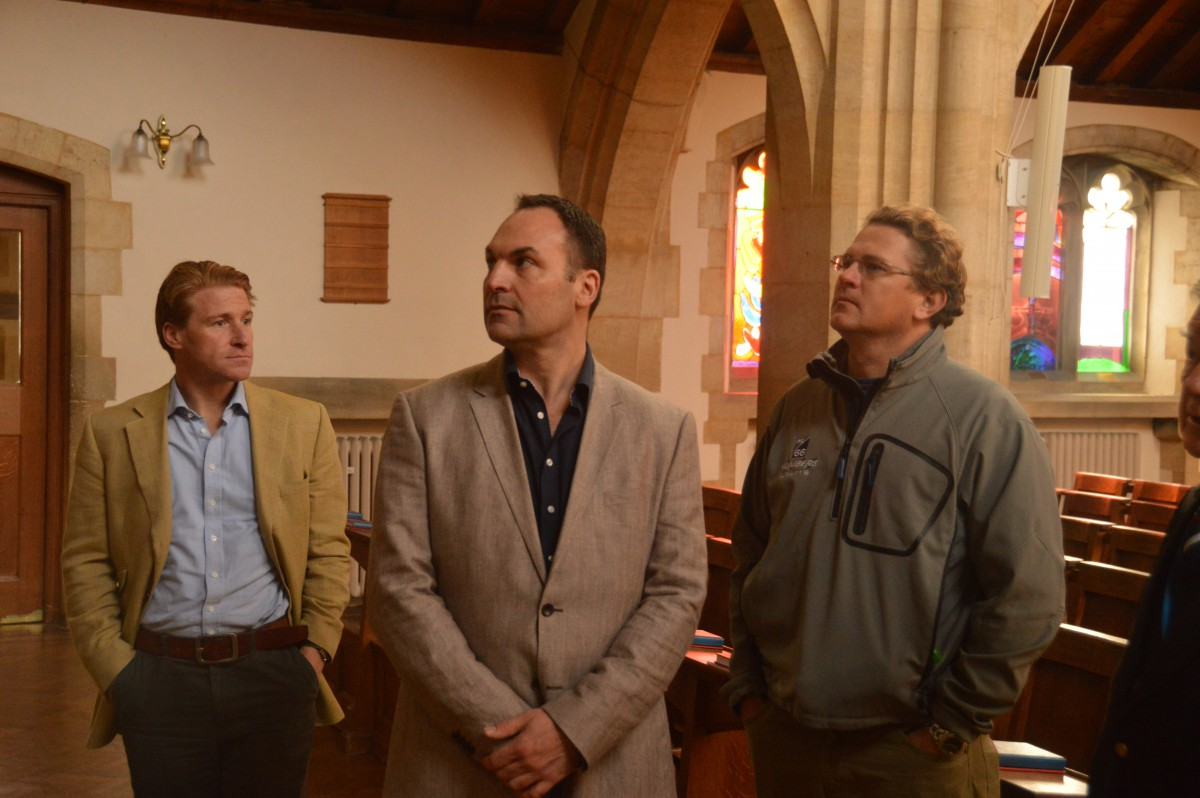 Hugo, Jules and Mike in the Chapel