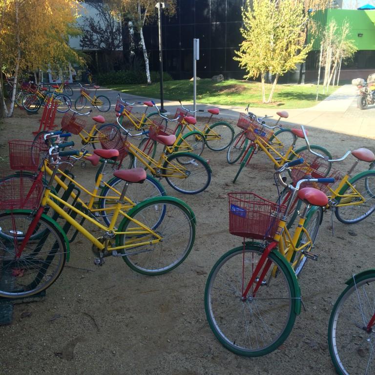 Shared bicycles at Google
