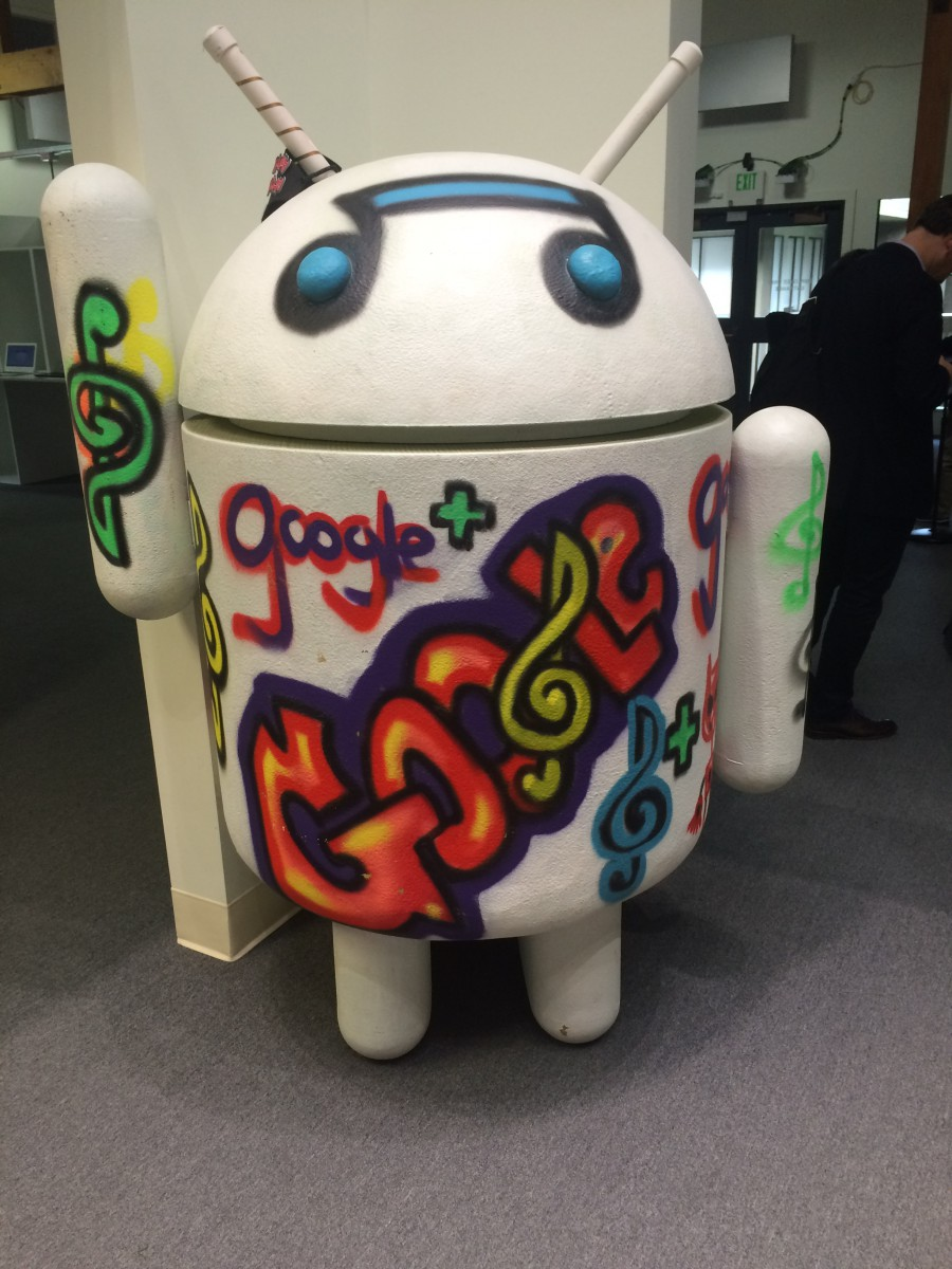 An Android, at the Google Visitor Centre