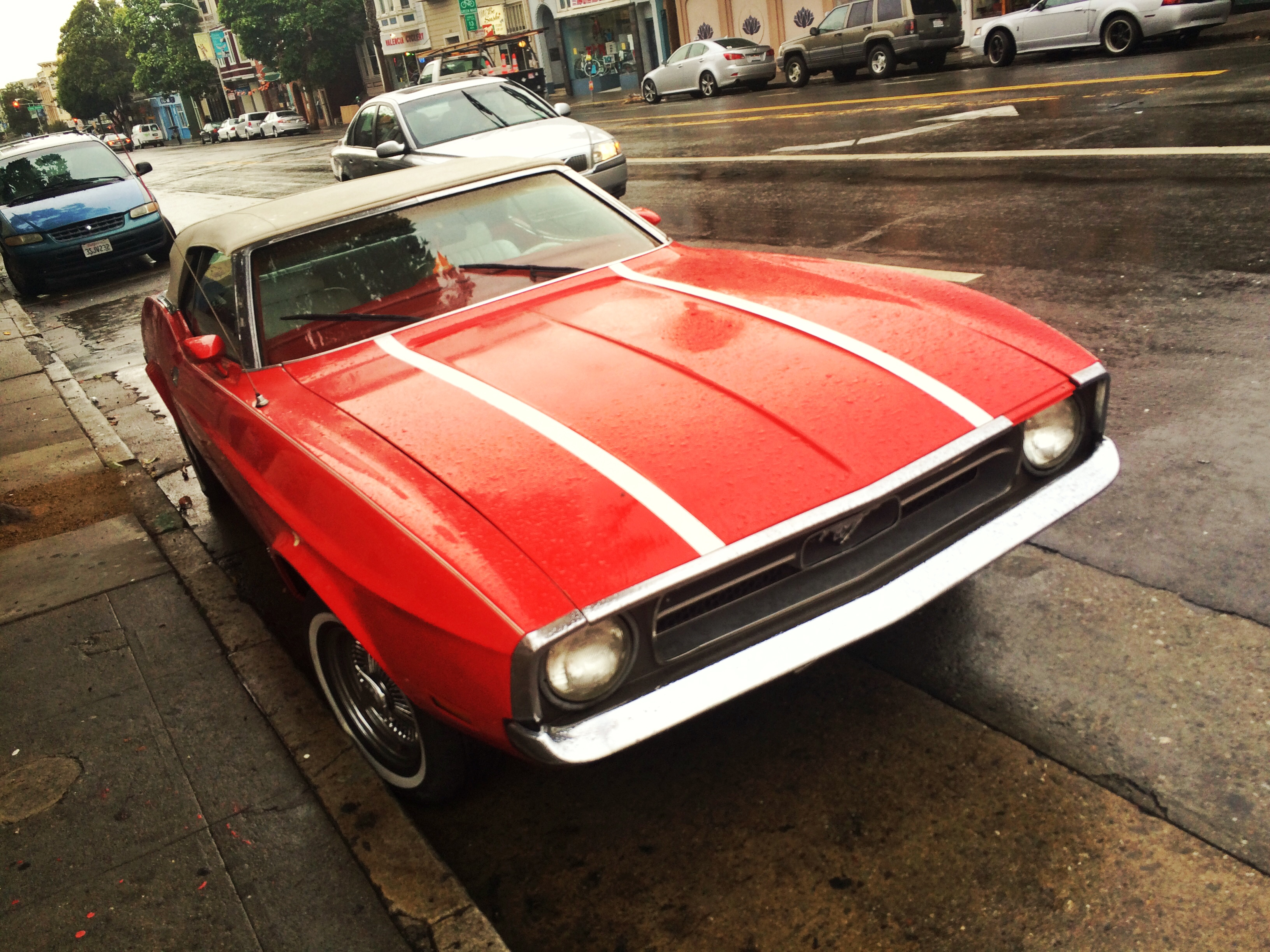 An old Mustang in San Francisco