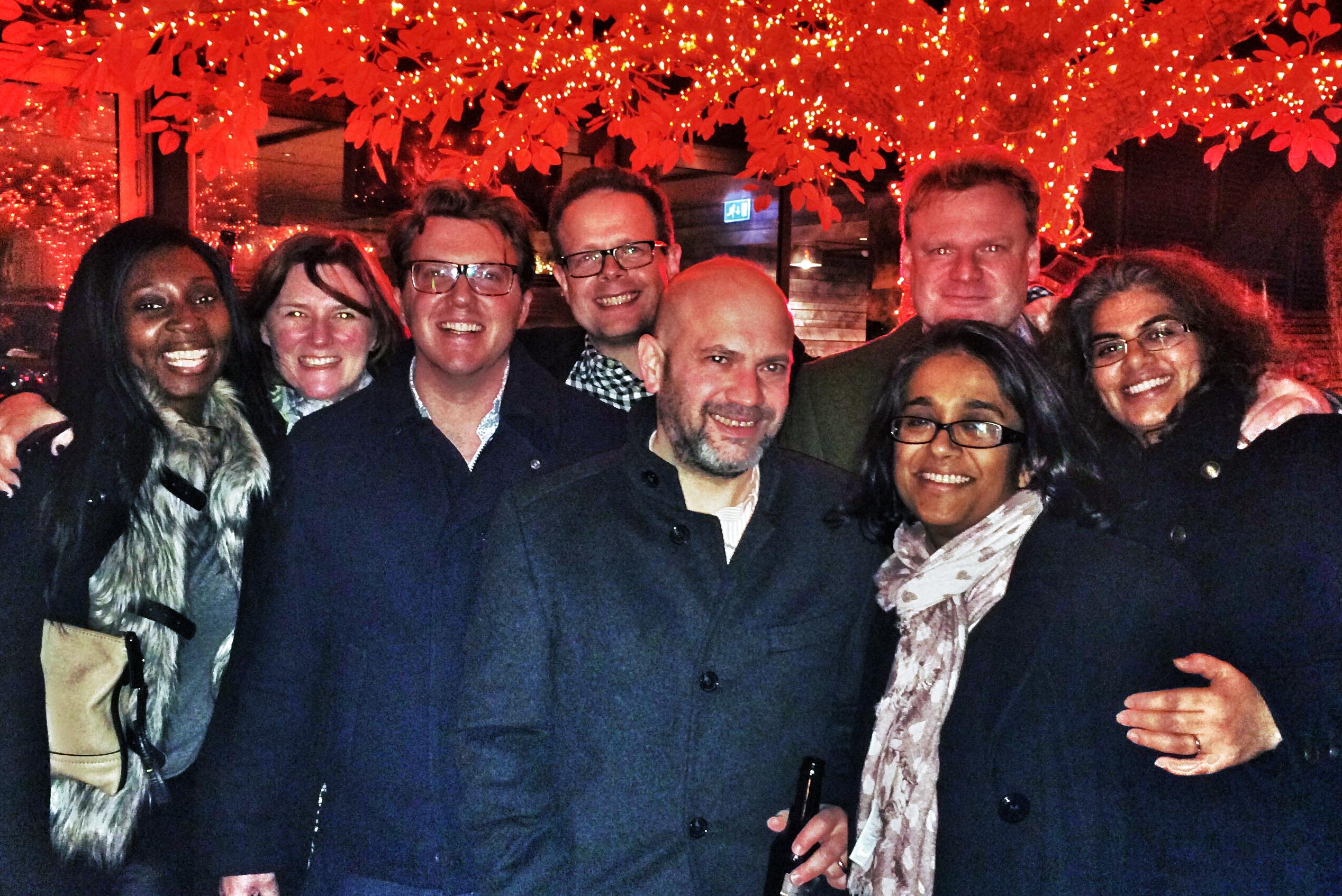 Shearers, Magnuses, Matthewses, and Guests at SushiSamba