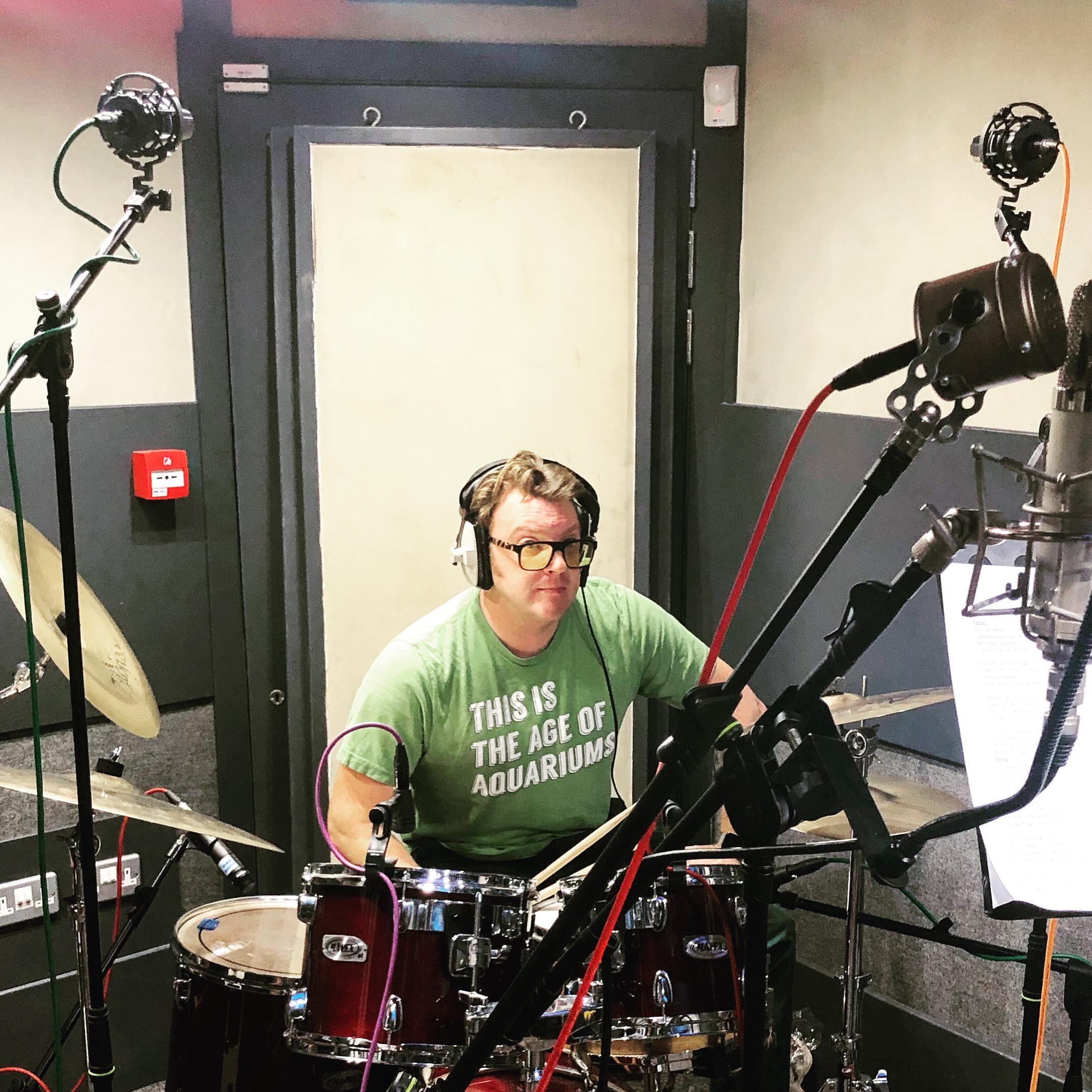 Matt Shearer drumming for The Krill - recording 2nd EP