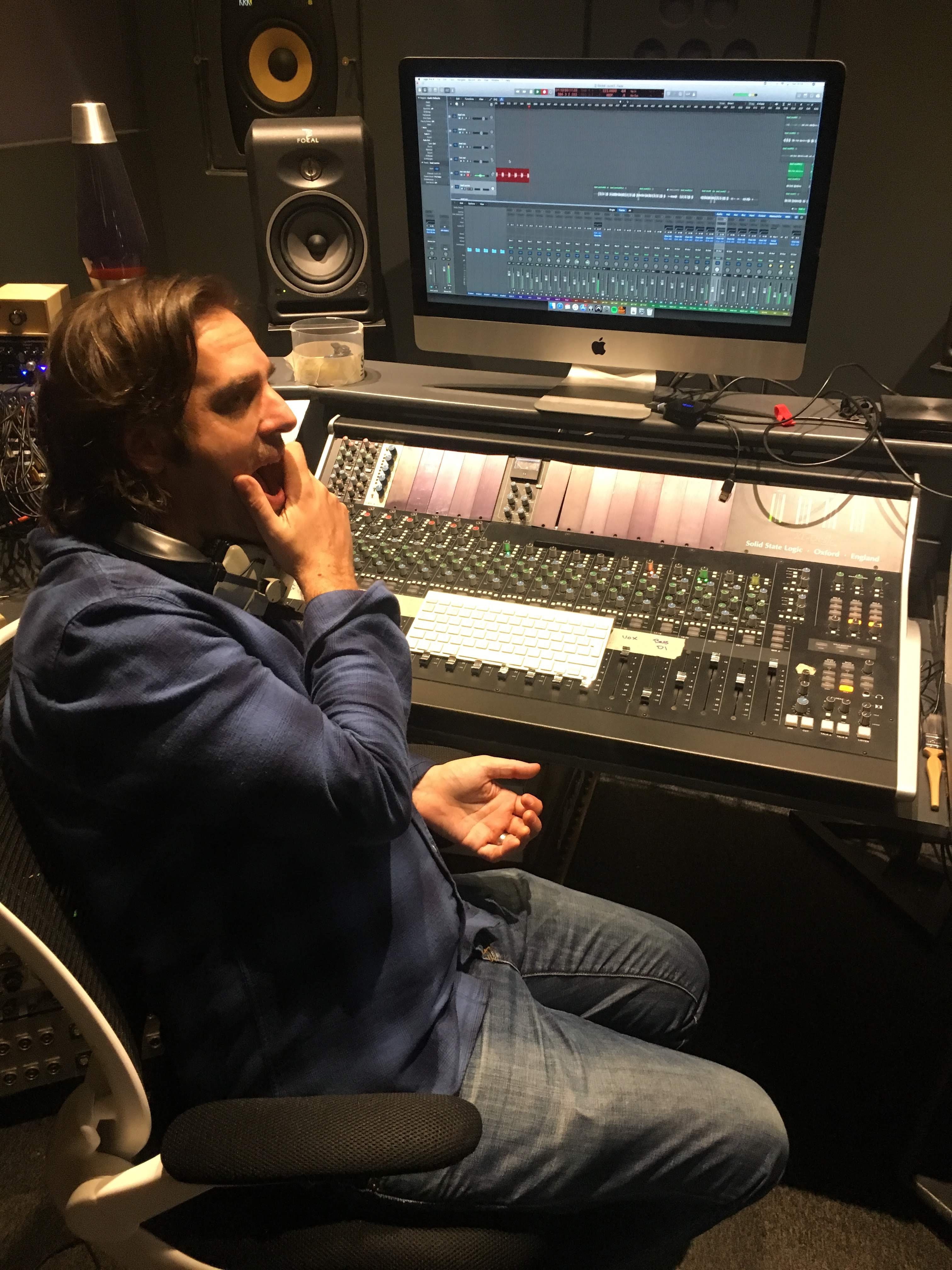 James at Soundlab Studios - Engineering The Krill's second EP