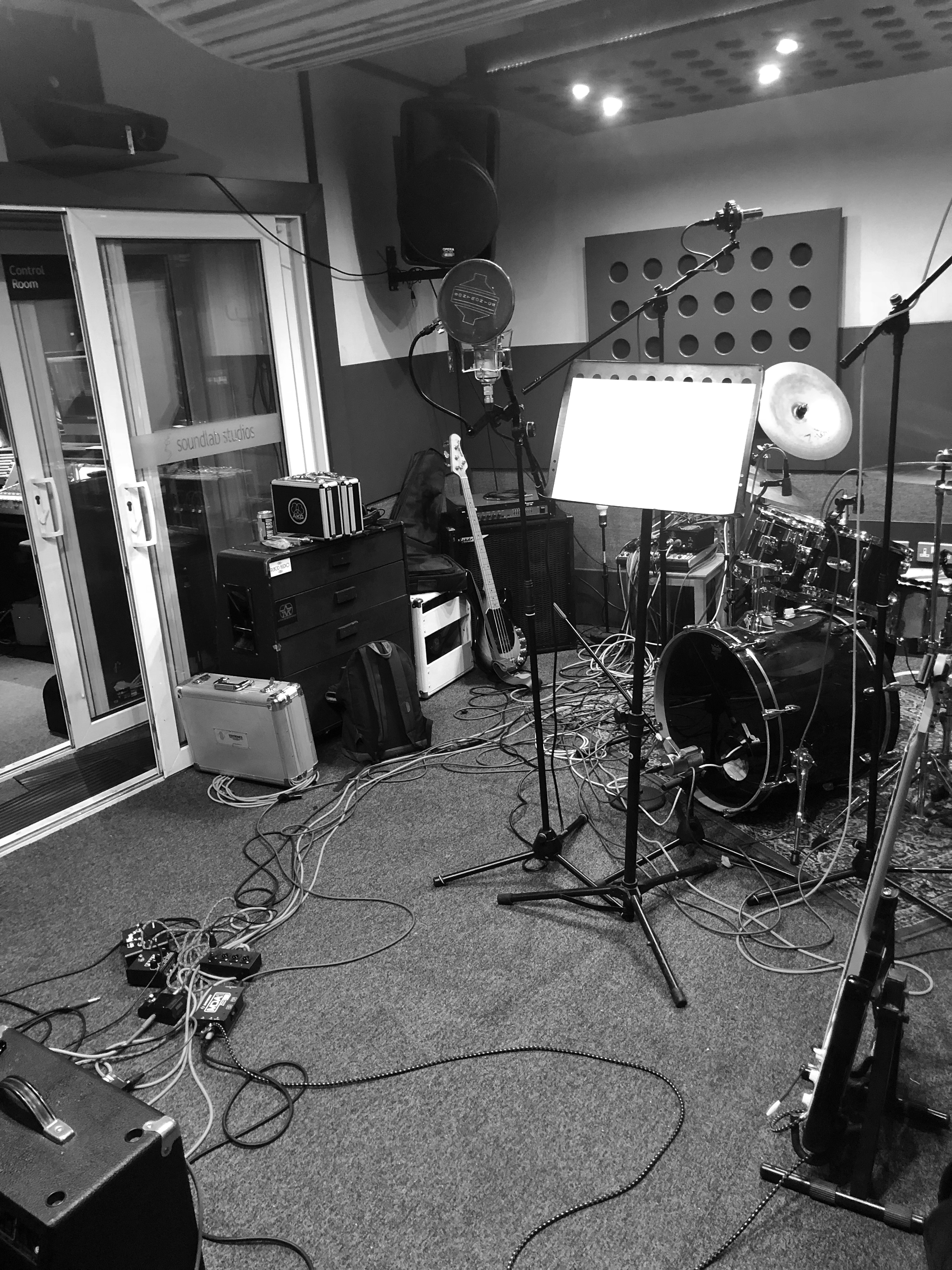 Soundlab Studios - during the recording of The Krill's second EP