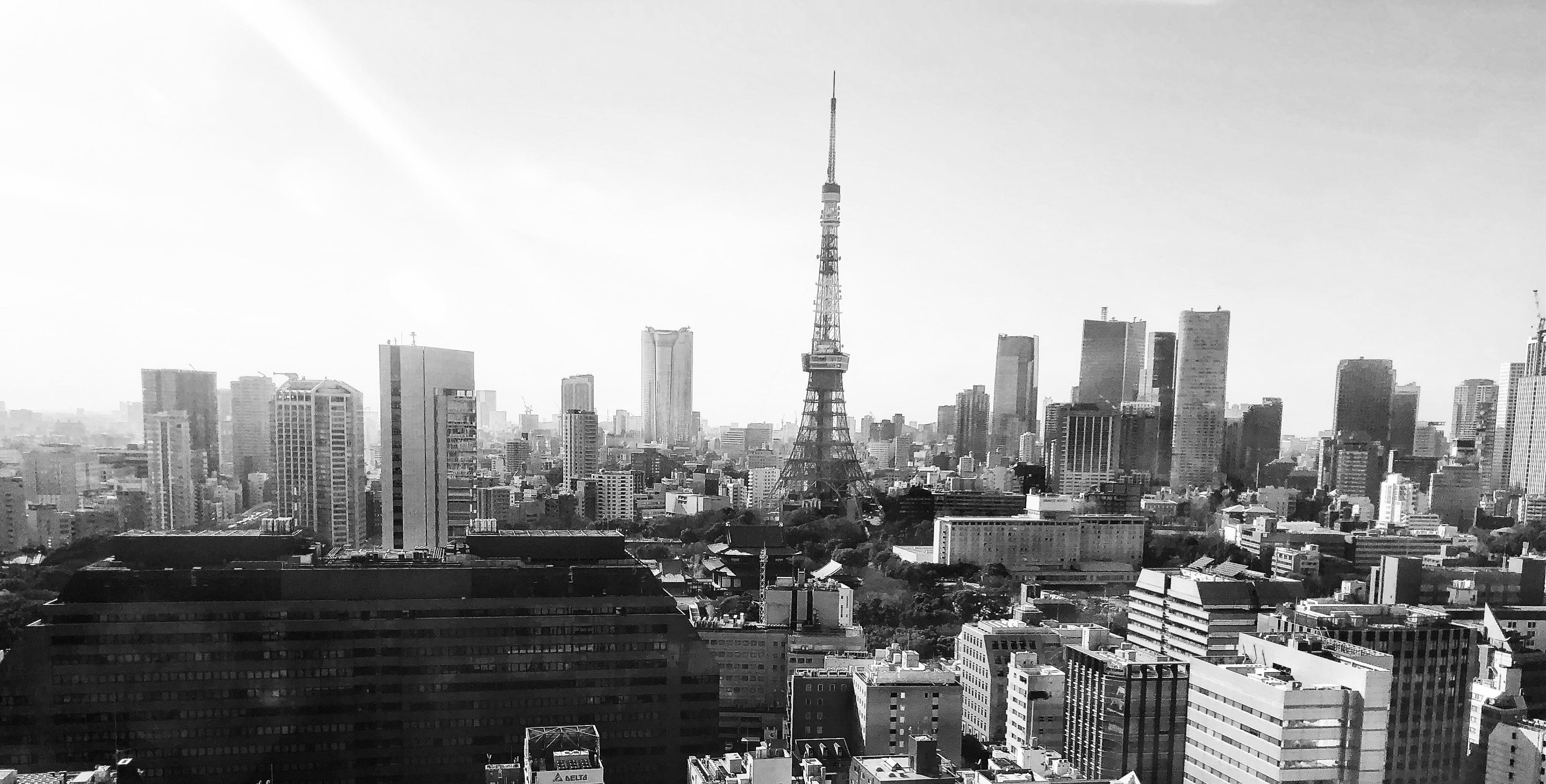 Tokyo skyline view from Asahi Broadcasing Corporation